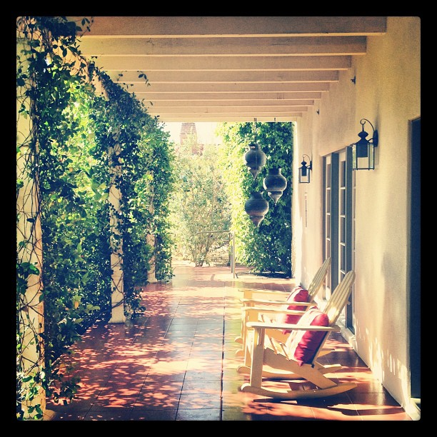 The front porch (Taken with  Instagram  at Colony Palms Hotel)