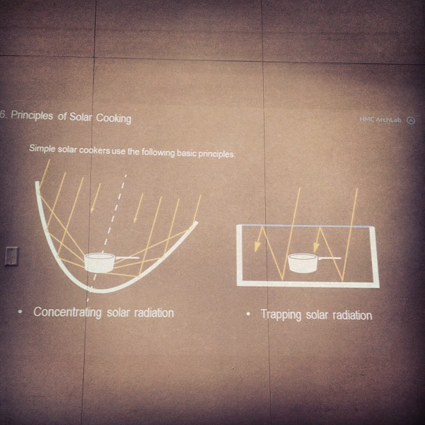 Today at lunch I learned about solar radiation cooking ovens @hmcarchitects (Taken with  instagram )