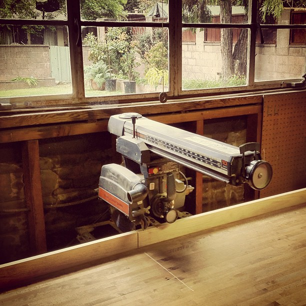 The saw has been squared! (Taken with instagram)