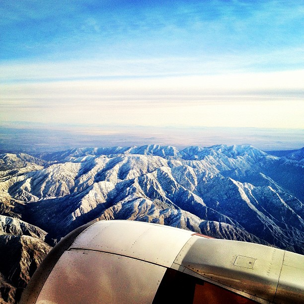 Snow topped San Gabriels (Taken with  instagram )