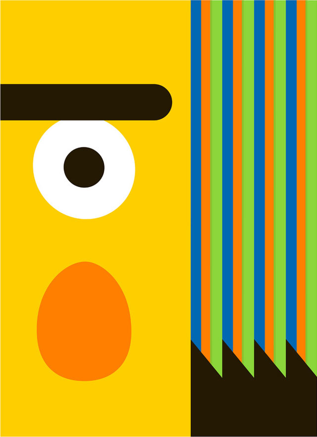laughingsquid :      Minimalist Bert and Ernie Posters
