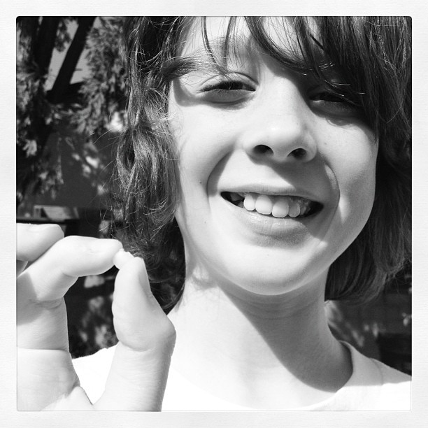 Leighton lost his 10th tooth moments ago.  (Taken with  instagram )