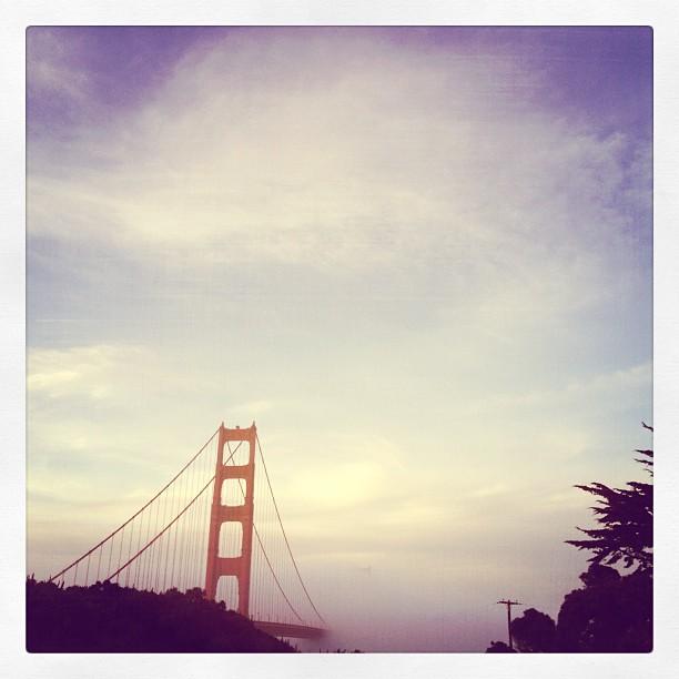 Bridge to nowhere (Taken with Instagram at Golden Gate Bridge Parking Lot)