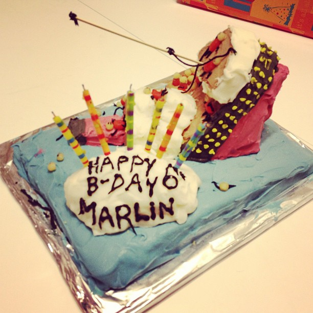 Jessie made a Titanic cake for Marlin's 6th birthday! (Taken with instagram)
