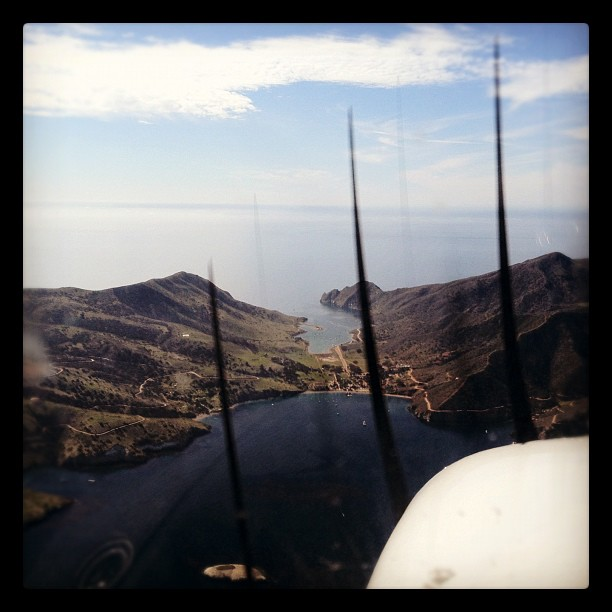 My ride this morning over Catalina Island (Taken with  instagram )