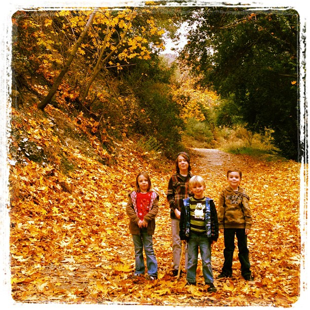 The kids on the hike up Evey Canyon. (Taken with instagram)