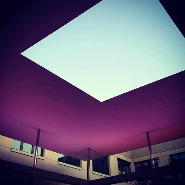 Sky is space (Taken with Instagram at The Turrell Skyspace)
