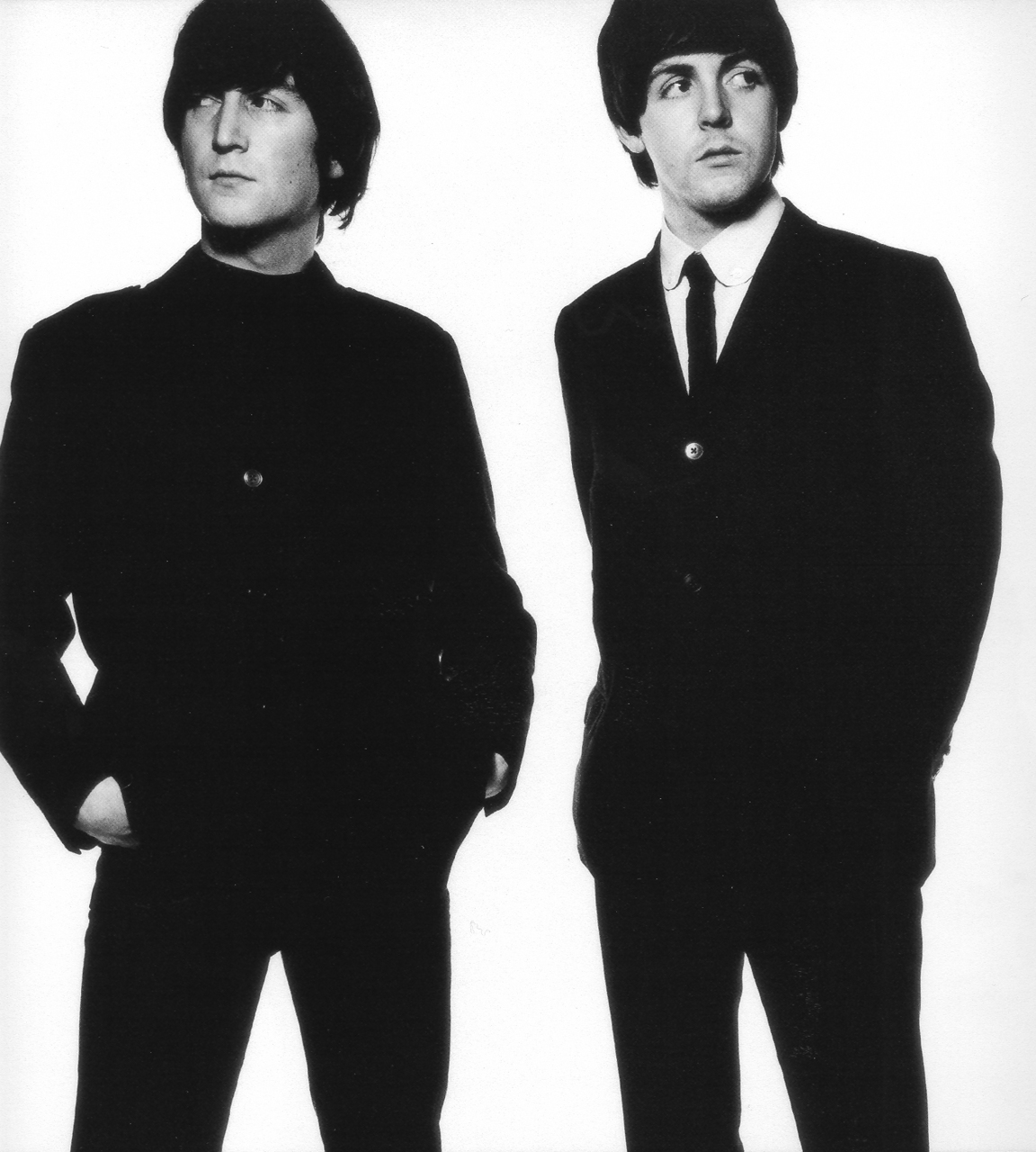 theimpossiblecool :     Lennon & McCartney.    photo by David Bailey