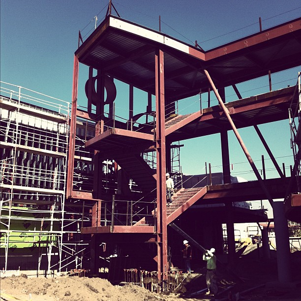 The main stair tower.  (Taken with  instagram )