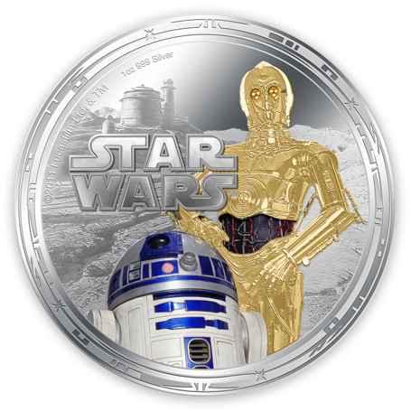 laughingsquid: Star Wars Legal Tender Collectible Coins Issued by New Zealand Mint