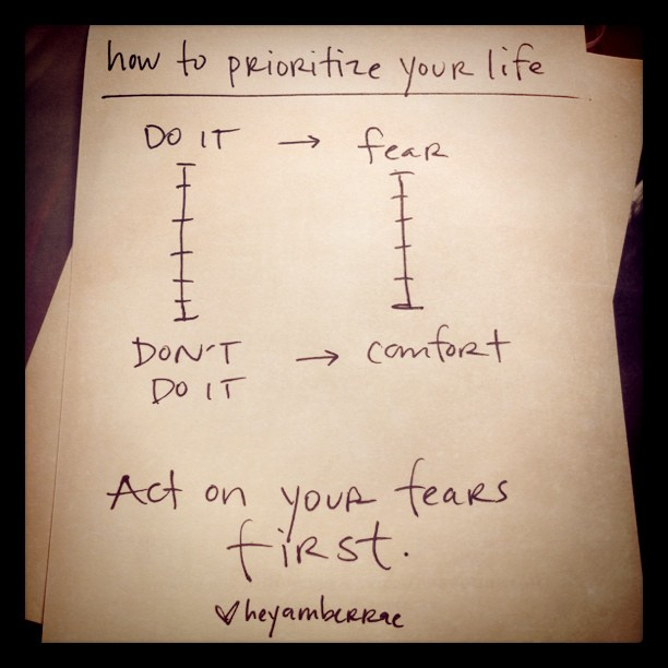 heyamberrae :     how to prioritize your life.  (Taken with  instagram )