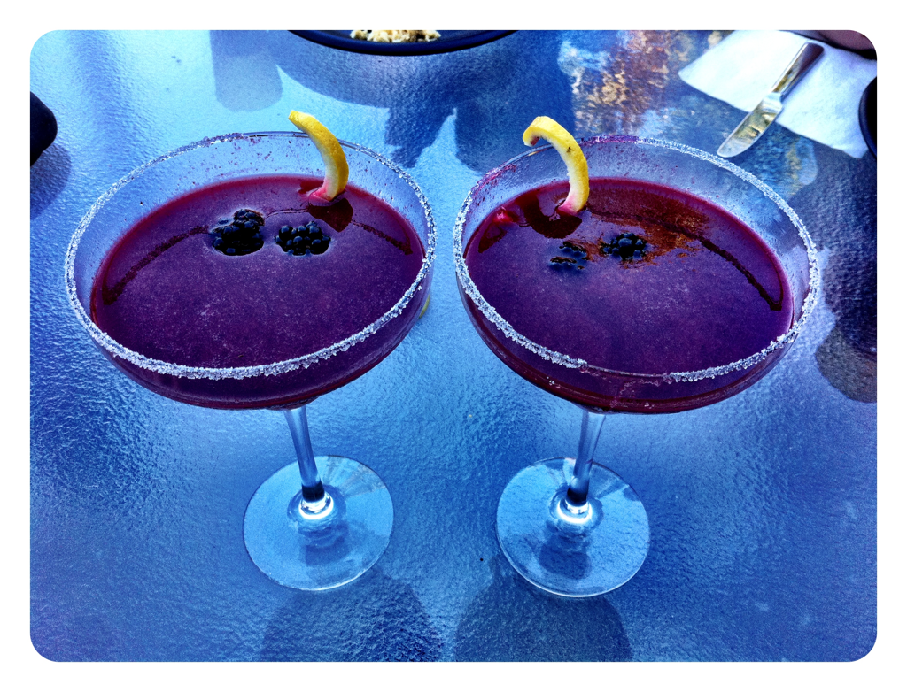 Fresh blackberries = blackberry martinis