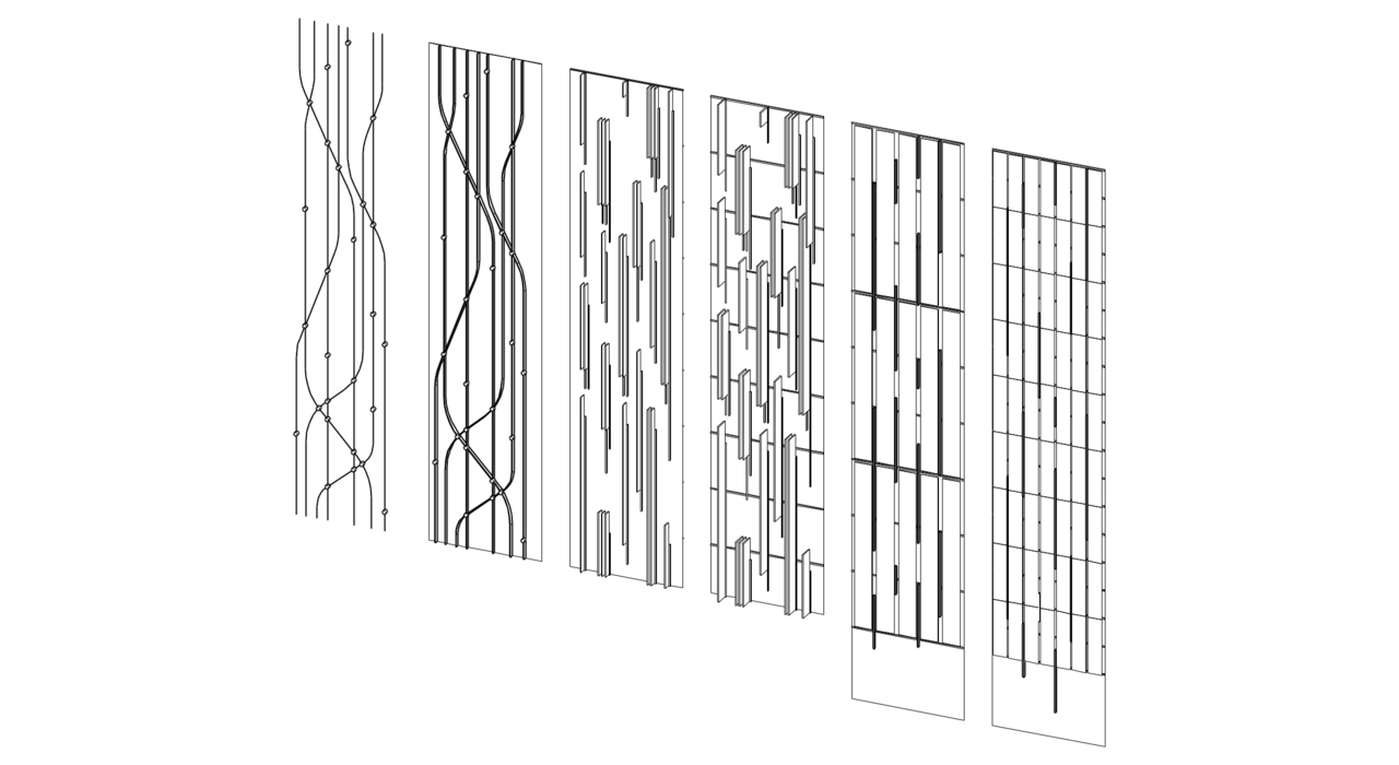 Iterate. Façade studies for a project I'm working on.