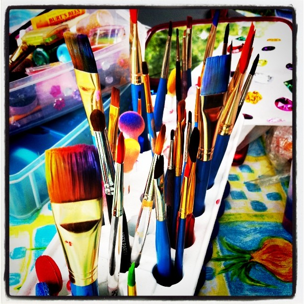 Face painting instruments (Taken with  instagram )