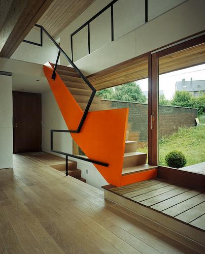 Nice composition. I'm a sucker for orange…    subtilitas :      DMN  - House in  Malmedy , 2008.  Via .