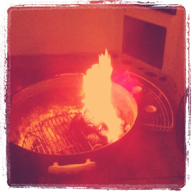 BBQ in the rain (Taken with  instagram )