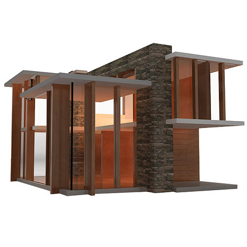 Emerson Doll House by Brinca Dada It's not only a modern masterpiece, but it has functioning solar panels on the roof while illuminate LED lights within. Bring. It. On.
