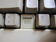 "stevenf :     The ""e"" Is For Enhanced:     Great indicator, or greatest indicator?     Our first family computer was a ][e"
