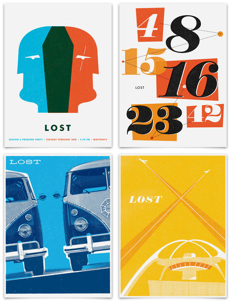 curvedwhite: LOST posters designed by Ty Mattson