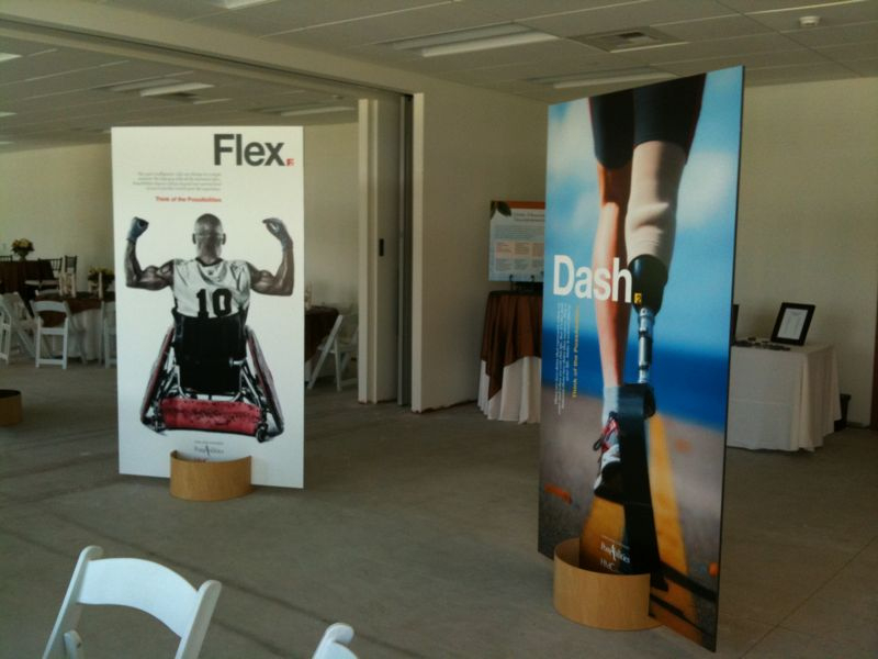 "We made 5 double sided 4'x7' billboard panels and a high-def video for Loma Linda's PossAbilities rehabilitation program. Their words - ""Blown away."""