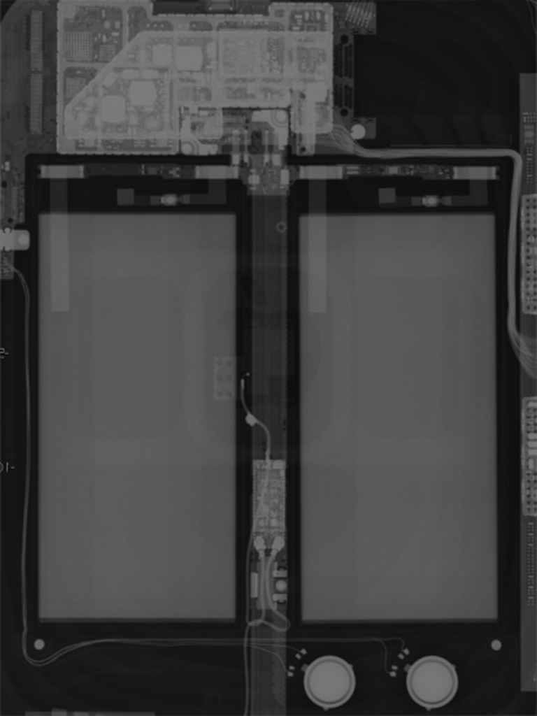 iPad xray wallpaper Here's an xray of the iPad… and I turned it into a wallpaper cropped and sized to perfectly fit the iPad. Now you can see what the insides look like when you turn yours on!