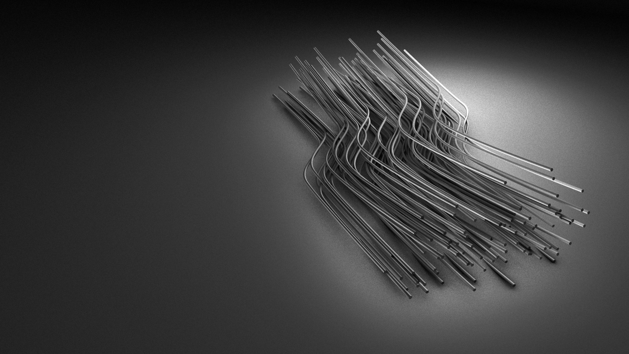 Wires - modeled and rendered in Cinema4d