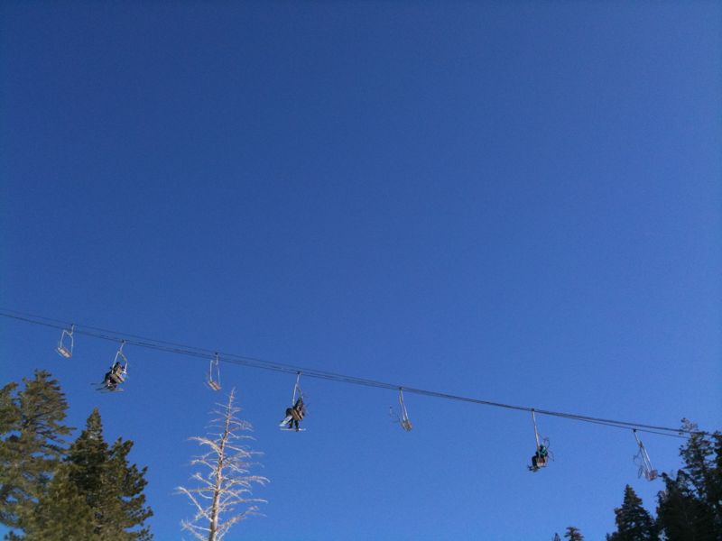 Chair lift at Baldy