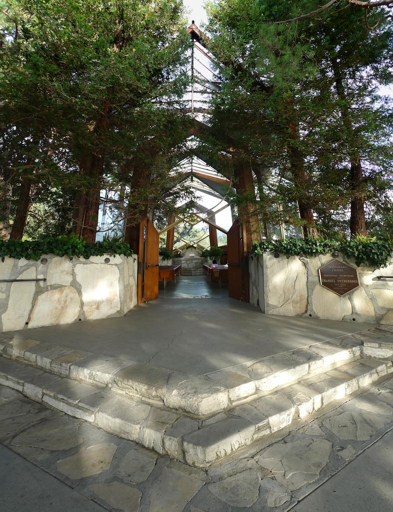 Wayfarer's Chapel, Exterior, by Lloyd Wright, Palos Verdes CA