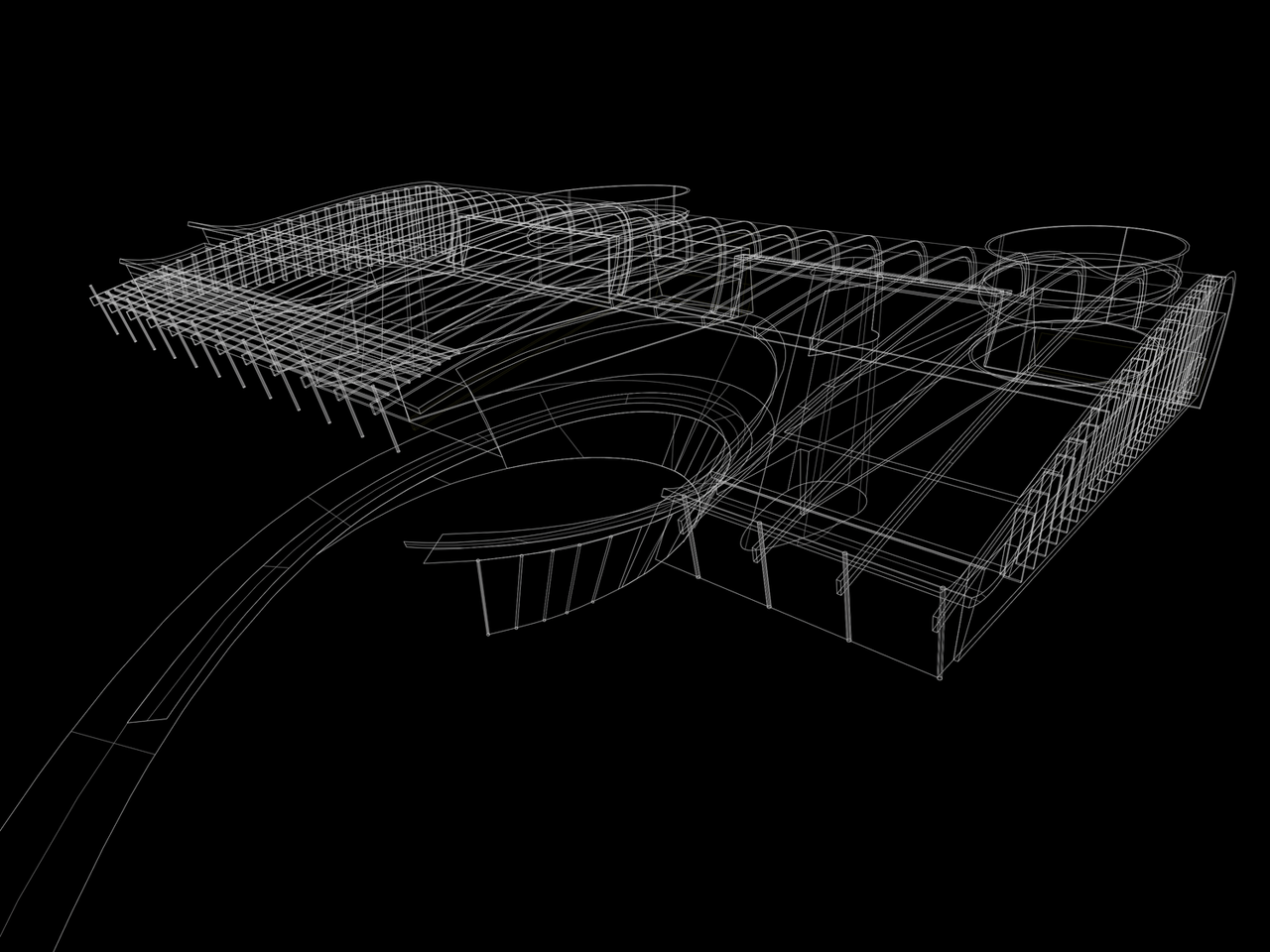 Aeronautics facility design meets nurbs modeling. Flow.