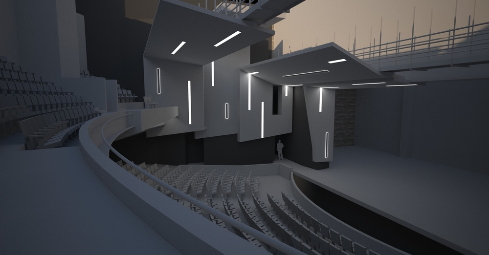 Lighting Study - balcony seating level