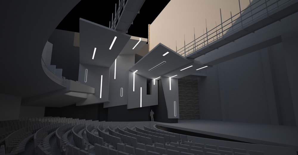 Lighting Study - orchestra seating level