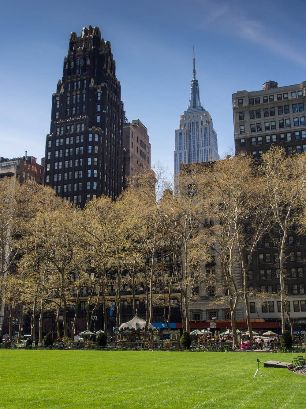 Bryant Park looking at the ESB