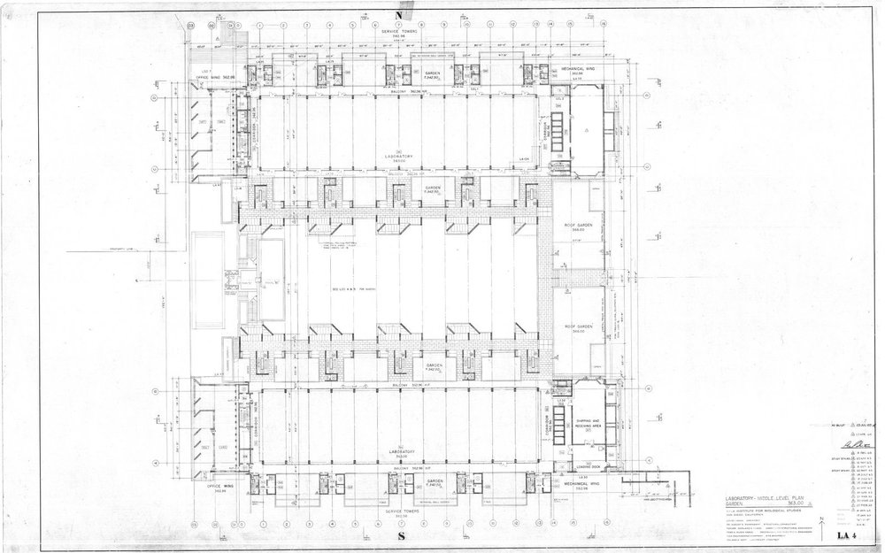 Salk Institute - Garden Level Plan