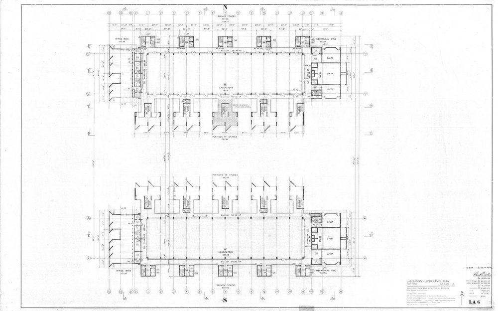 Salk Institute - Upper Level Plan