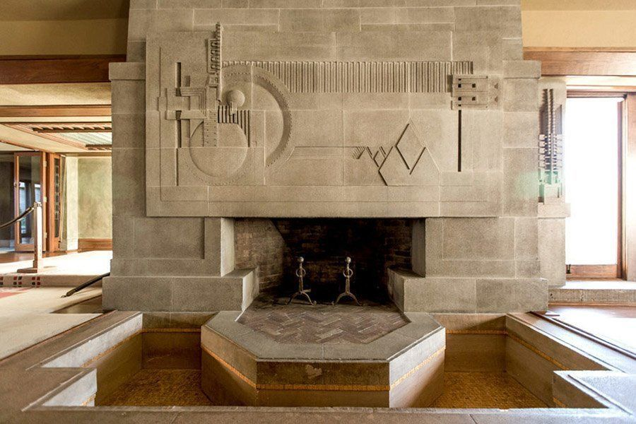 Hollyhock house hearth