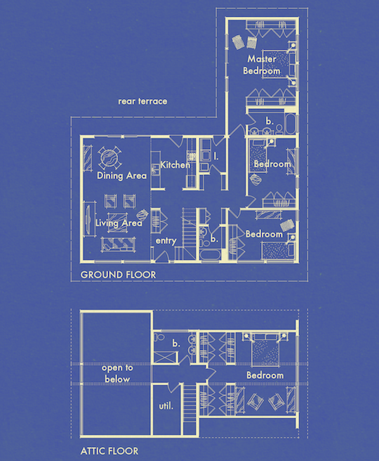 Blueprints Collection Plan 0860 The Hus1 by Gregory La Vardera Architect