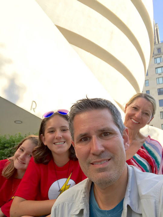 The Pann Family experiences the Guggenheim Museum