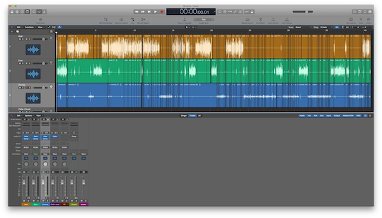 An edited Archispeak episode in Logic Pro X.