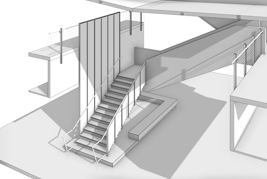 Stair and railing design by Evan Troxel