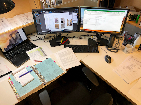 An architect's desk - Photo by Neal Pann