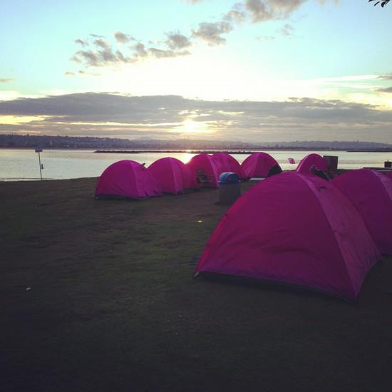 Camp at the San Diego Komen 3-Day for the Cure.
