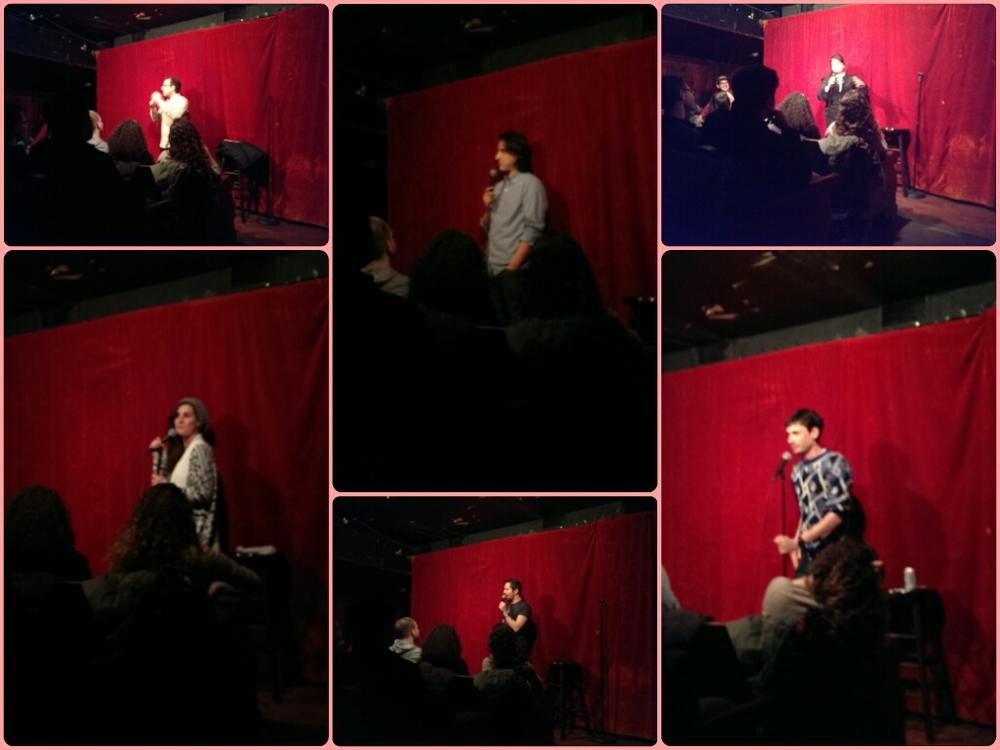 Clockwise: Louis Katz, Jason Saenz, Jenny Zigrino, Adam Newman, Chesley Calloway, Casey Balsham