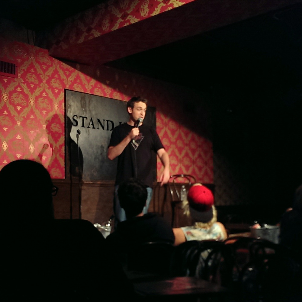 Dan Soder, playing nice with an exceptionally small crowd and a weirdly dressed Brit front & center