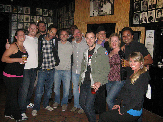Carl LaBove with the La Jolla Comedy Store crew, some of the best staff in the country