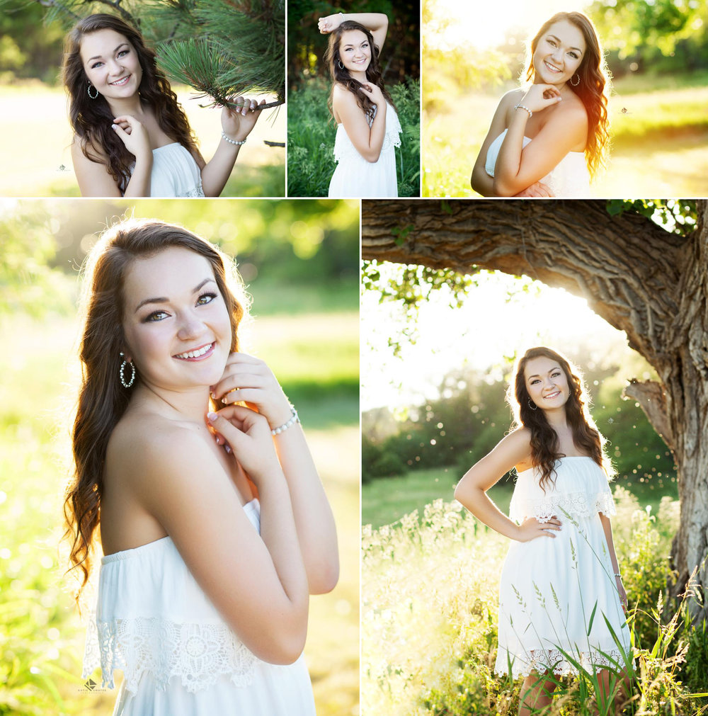 White Dress Country Senior by Katie Swatek Photography