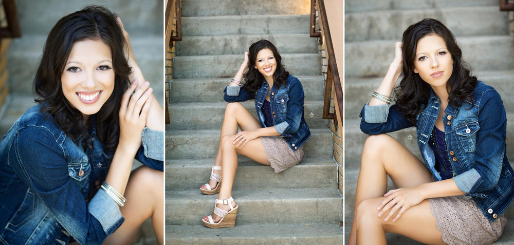 Urban Senior by Katie Swatek Photography | Urban Staircase Senior by Katie Swatek Photography