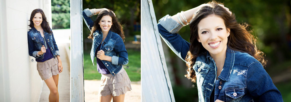 Jean Jacket Senior by Katie Swatek Photography