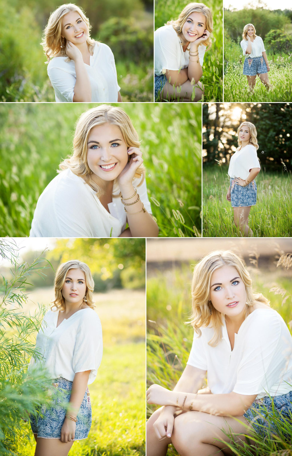Country Senior by Katie Swatek Photography | Pretty Prep Senior by Katie Swatek Photography | Patterned Shorts Senior by Katie Swatek Photography