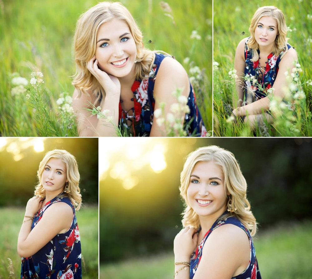 Floral Dress Senior by Katie Swatek Photography | Country Senior by Katie Swatek Photography