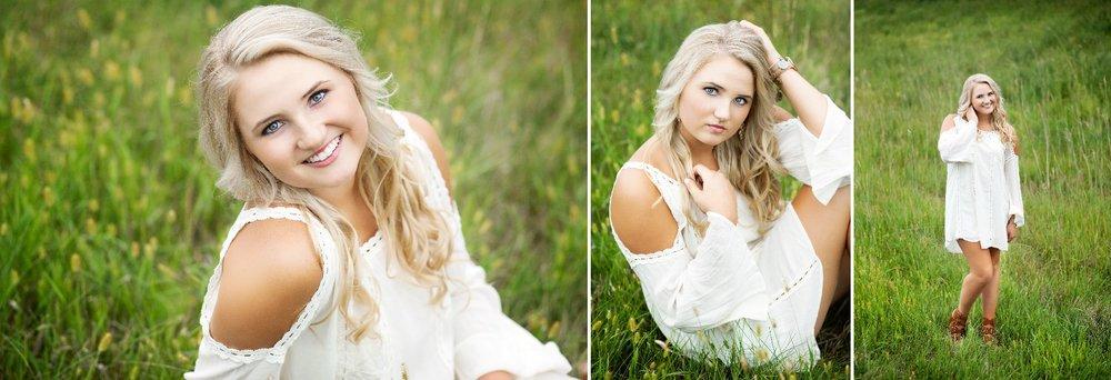 White Dress Senior Images by Katie Swatek Photography | Country Senior Images by Katie Swatek Photography